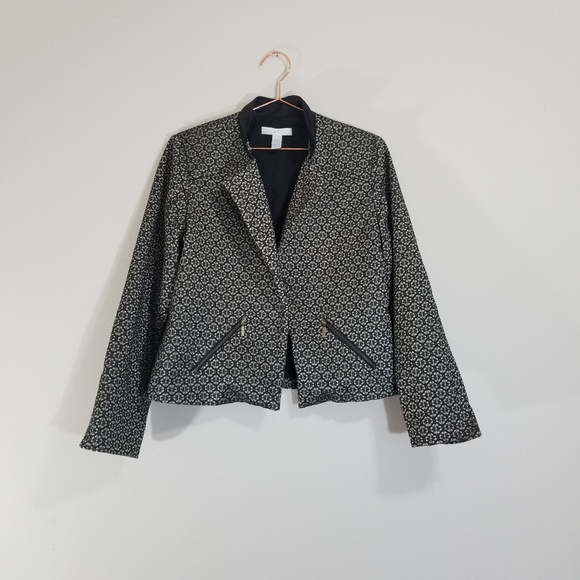 c9c487a4 Chico's Jackets & Coats | Chicos Black And Gold Blazer | Poshmark